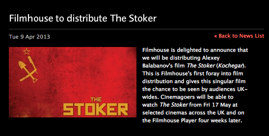 Filmhouse distributes The Stoker