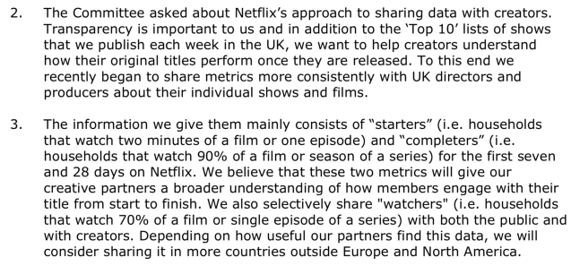 netflix supplement evidence